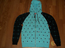 Foursquare Keep Cool Leaf Grid Hoodie Mens Size Small BNWT