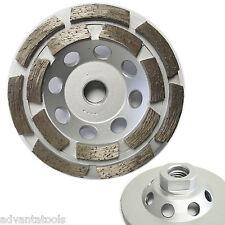 """4"""" Double Row Concrete Diamond Grinding Cup Wheel 5/8""""-11 Arbor - Premium"""