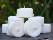 10pk 120hr/pack WHITE DRIFTWOOD & COCONUT Scented Wedding SOY TEA LIGHT CANDLES