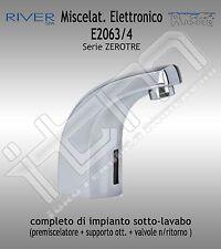 E2063/4 Rubinetto RIVER Miscelatore Elettronico per Lavabo serie ZEROTRE