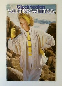 CLECKHEATON - WINTER WHITES - VINTAGE KNITTING PATTERN BOOK JUMPERS CARDIGANS