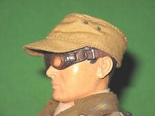 "TROPICAL CAP ~ 1/6 Cloth Hat DAK German Africa Corp 12"" DML Dragon UNIFORM WW2"