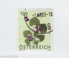 2007 Austria #2099 Θ used VF , Violets flower stamp, 100 c