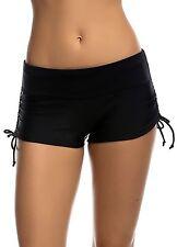 OUO Women Ladies Girls Adjustable Drawstring Mini Swim Shorts Bikini Swimwear...