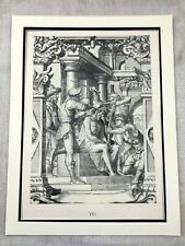 1911 Antique Print Hans Holbein Jesus Christ Crown of Thorns Limited Edition