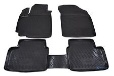 Für Suzuki Jimny ab Bj 09.18 Gummi-Fußmatten schwarz Rand verschiedene Farben