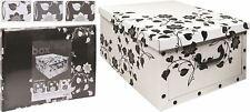 Aufbewahrungsbox mit Deckel Allzweckkiste Pappbox Kiste Karton Box m. Griff