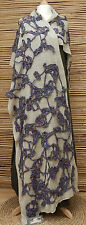 *ZUZA BART*DESIGN AMAZING BEAUTIFUL LINEN SCARF/WRAP/SHAWL WITH WOOL DECORATION