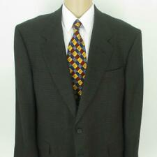 46 R Louis Roth Brown Gray Tweed Wool 2 Btn Mens Jacket Sport Coat Blazer Mint