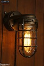 Vintage Industrial Explosion Proof Wall Lamp Sconce Steampunk Light - Bronze