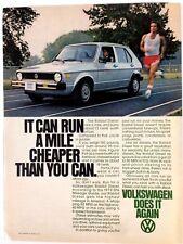 1979 VW Volkswagen Rabbit Diesel Vintage Original Print Ad