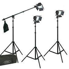 LED Photography Lighting 300W Kit Dimmable Barndoors Photo Video Light Boom