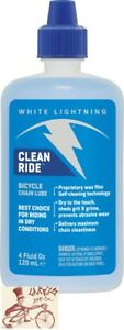 WHITE LIGHTENING CLEAN RIDE BICYCLE LUBE LUBRICANT--4oz DRIP