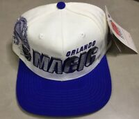 NWT Vintage Orlando Magic Snapback Hat Sports Specialties White Cap 90s Shadow