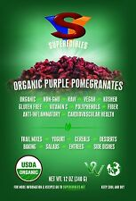 Organic Pomegranate Seeds Purple 12 Ounce Resealable Free Shipping Fast Delivery