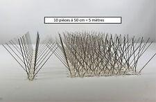 10 pc (5m) Pics anti pigeons , 4 rangées de pointes en acier inoxydable
