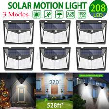 208 LED Waterproof Solar Power PIR Motion Sensor Wall Light Outdoor Garden
