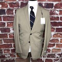 Calvin Klein Men's Suit Separate Sports Blazer Jacket Tan 36- Short