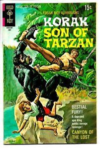 KORAK SON OF TARZAN #36 Gold Key Comics BESTIAL GORILLA FURY Burroughs 1970 VF