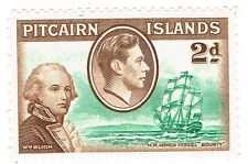 """1940 Pitcairn Islands - King George VI - Scenes from Mutiny """"Bounty"""" - 2 d"""