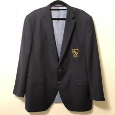 PETER MILLAR Men Sz 44? Sport Coat Jacket Navy PCC Wool Plainfield Country Club