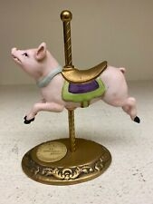 Willitts Designs Porcelain/Brass Countryside Carousel Pig Limited Ed 255/17500