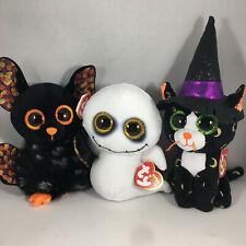 2021 Halloween SET of 3 Ty Beanie Boos PANDORA, SPIKE & RADAR (6 Inch) Plush Toy