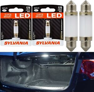 Sylvania ZEVO LED Light 578 White 6000K Two Bulbs Trunk Cargo Replacement Stock
