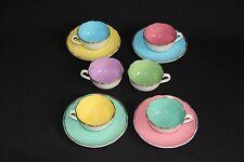 service à café DIGOIN SARREGUEMINES porcelaine opaque 6 tasses 4 sous tasses