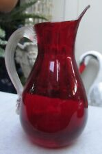 STUNNING VINTAGE WHITEFRIARS RUBY ART GLASS BEAK JUG