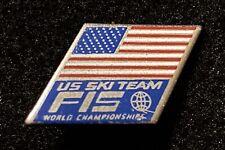 US SKI TEAM FIS WORLD CHAMPIONSHIP Vintage Skiing Ski Pin Souvenir Travel