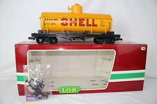 LGB G SCALE #4080-Y04 SHELL OIL SINGLE DOME TANK CAR, EXCELLENT, BOXED, LOT A