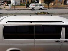 VW T5 T6 MULTIVAN CARAVELLE LWB STAINLESS OE STYLE BLACK ROOF RAILS ROOF BARS