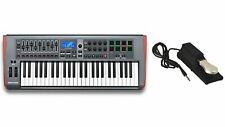 Novation Impulse 49 Usb Keyboard Controller w/ Sustain Pedal Bundle