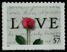 2001 57c Rose & Love Letters Scott 3551 Mint F/VF NH