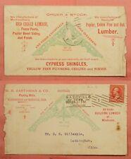 1899 EARTHMAN & CO LUMBER SHINGLES ALLOVER ADVERTISING NASHVILLE TN + LETTER