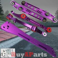 Purple Front & Rear Lower Control Arm Subframe Brace Kit For 94-01 Acura Integra