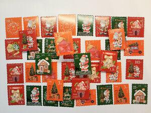 50 Weihnachtsbriefmarken Aufkleber Sticker Nikolaus Briefe journal stationary