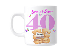 40th Birthday Special Sister Personalised Novelty Gift Mug