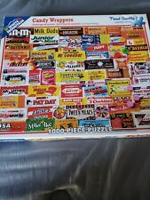 """1000 Piece White Mountain Jigsaw Puzzle Vintage """"Candy Wrappers"""" Larger Pieces"""