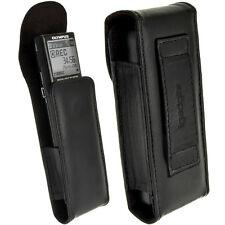 Noir Étui Housse Case Cover Cuir pour Olympus VN-713PC, 732PC, 8600PC Dictaphone