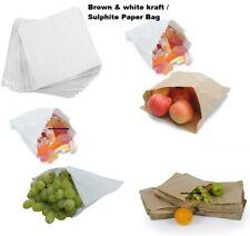 More details for  kraft white & brown kraft /sulphite strung paper bags food sandwich grocery bag