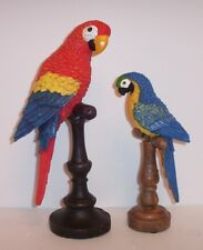 2 Tropical Bird Figurines / From Cracker Barrel Old Country Store / Free Ship