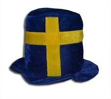 Schweden Sverige Funhat Zylinder Hut WM Fan Unigröße neu Fussball 2018