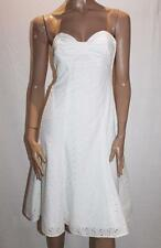 Authograph Brand White Embroidered Strapless Dress Size 8-XS BNWT #SN64