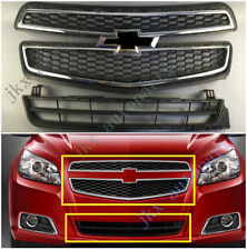 3pcs Chrome OEM Front Middle Bumper Mesh Grille For Chevrolet Malibu XL 2013