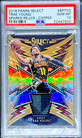 Trae Young 2018-19 Panini Select Sparks Copper Prizm /49 Rookie RC PSA 10 POP 2
