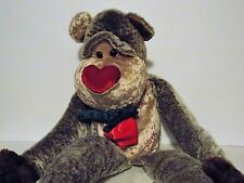 """WALMART MONKEY WITH A ROSE AND I LOVE YOU ON THE TUMMY 24"""" LONG"""