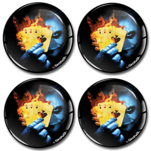 60mm 3D Silicone Stickers Decals Wheel Center Hub Rims Caps Joker Poker Cards