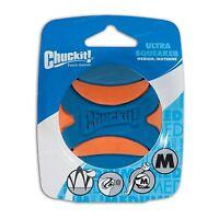 Chuckit! Ultra Squeaker Tough Ball Rubber Medium Dog Fetch Toy - Fits Launchers